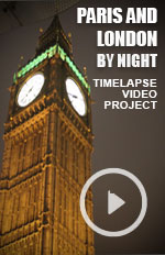 Experimental timelapse photographic filming on the Streets of London and Paris at night. Shot in Feb 2015
